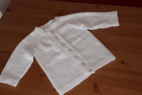 plain white cardigan for christening