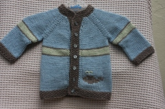 blue newborn cardigan