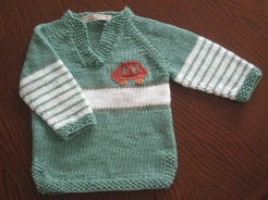 cotton sweater with detail