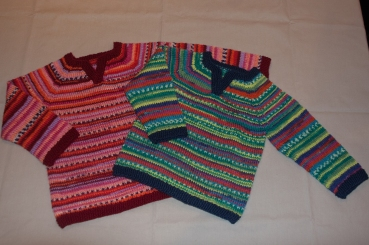 right of 2 itchy woolen jumpers